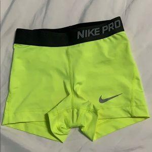 Nike Pro Dri-Fit Neon Shorts